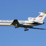 Российский Ту-154 в небе над Америкой