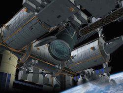 Лазер космической станции будет уничичтожать мусор