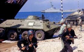 В Крыму провели учения десантные корабли Черноморского флота