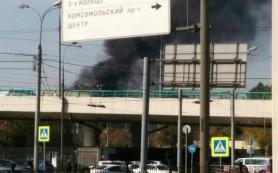Пожар возле спортивной арены «Лужники» в Москве потушен