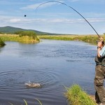 Подготовка снасти к вываживанию крупной рыбы