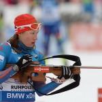 Российские биатлонистки стали четвертыми в эстафете на Кубке мира