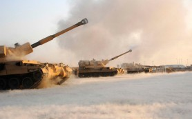 Турецкие войска открыли огонь по Сирии