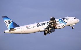 EgyptAir в знак траура сменила цвет логотипа на черный