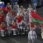 Белорусы пронесли российский флаг на открытии Паралимпиады
