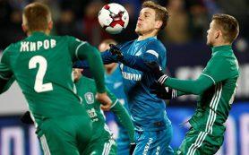 Футболисты «Зенита» с минимальным счетом обыграли «Томь» в матче РФПЛ