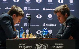 Карякин и Карлсен сыграли вничью девятую партию шахматного чемпионата