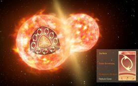 Пара сталкивающихся звезд извергает в космос радиоактивные молекулы