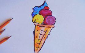 Как рисовать мороженое. Уроки рисования для начинающих художников