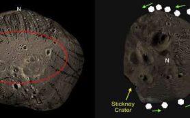 Желоба на поверхности спутника Марса были вырезаны катящимися камнями