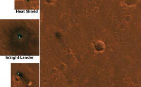 Снимок: Марсианский посадочный аппарат НАСА InSight замечен из космоса