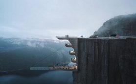 Знаменитый утес Прекестулен превратится в крутой отель с «парящим» бассейном