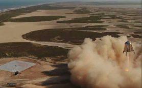 Прототип аппарата Starhopper фирмы SpaceX совершает свой самый высокий прыжок