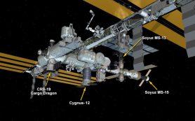 Космический грузовик Dragon прибывает на МКС