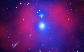 Столкновение галактик генерирует тепло