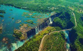 Уровень воды в водопаде Виктория достиг рекордно низких значений за 25 лет