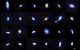 Новорожденные звезды, вокруг которых начинается формирование планет