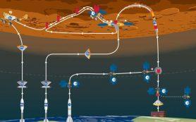 Марсианский ровер продолжает движение