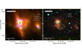 Звездообразовательная область IRAS 12272-6240 изучена в ИК-диапазон