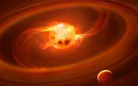 Газ падает на молодые звезды вдоль магнитных линий