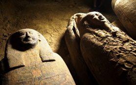 В Египте найден древний тайник с запечатанными саркофагами