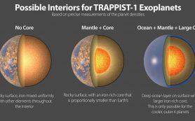 Семь каменистых планет системы TRAPPIST-1 имеют очень близкие составы