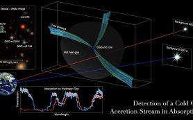 Обнаружены «артерии», питающие холодным газом ранние, массивные галактики