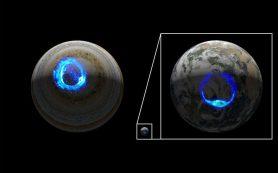 Миссия «Юнона» наблюдает одно из самых грандиозных свечений атмосферы Юпитера