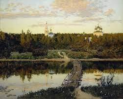 Картину Левитана «Тихая обитель» представили на выставке в Плесе