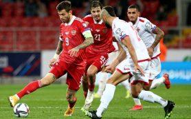 Сборная России одержала вторую победу при Карпине, обыграв Мальту